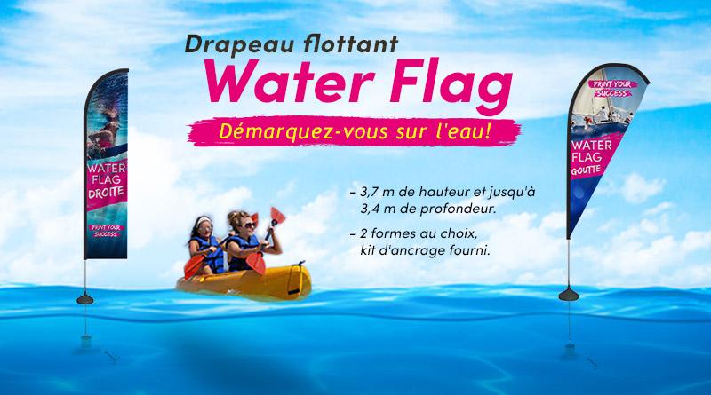 """Drapeau publicitaire flottant """"Water Flag"""""""