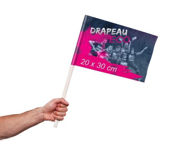 drapeau supporter Eco personnalisable