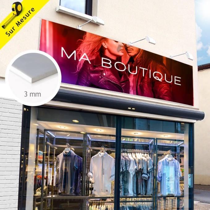 Enseigne publicitaire sur-mesure en pvc pour habillage de boutique