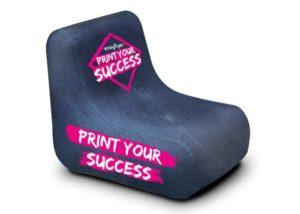 fauteuil à gonfler personnalisable léger utilisation extérieur intérieur