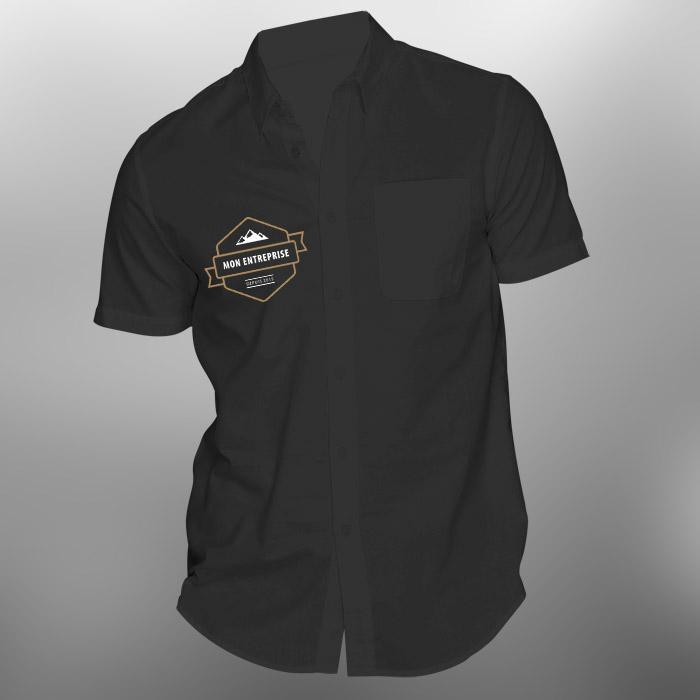 Impression chemise personnalisée pour salon professionnel