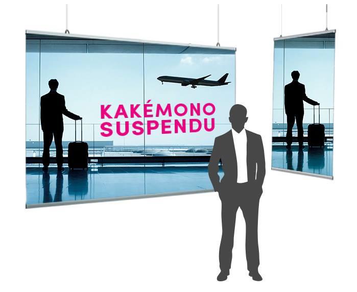 Kakémono suspendu personnalisable léger et design