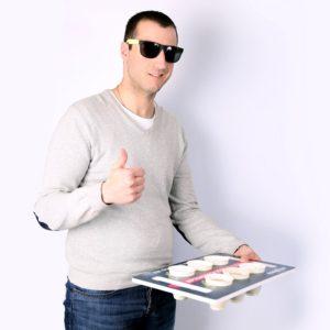 plateau porte gobelets une ou deux surfaces impression