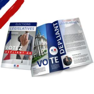 programme électoral A4 ouvert élections législatives papier couché brillant
