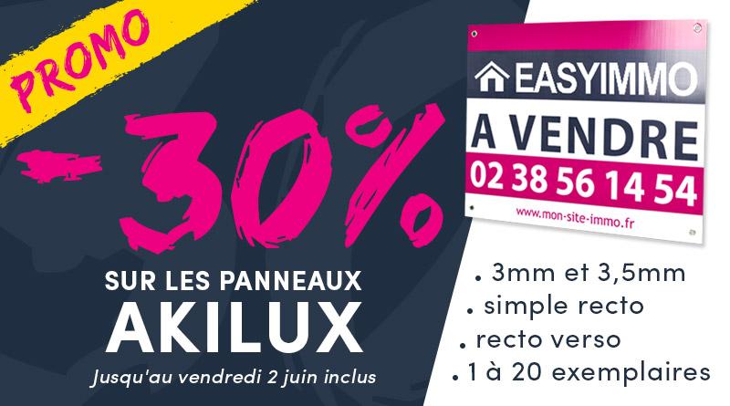 Promo -30% Panneaux Akilux simples jusqu'au 2 juin 2017 inclus !