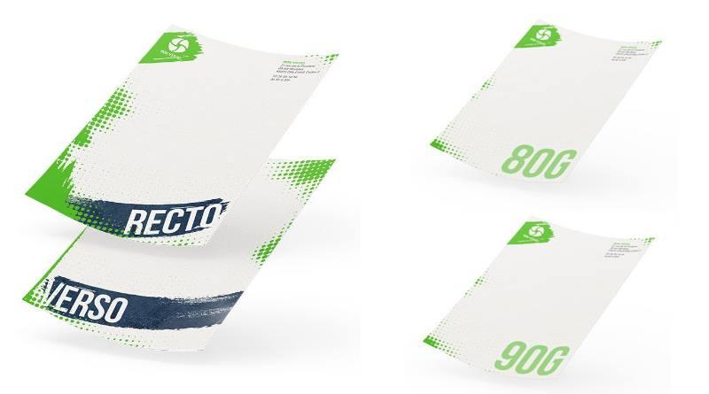 Tête de lettre papier recyclé communication écolo
