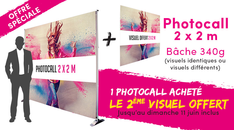 Offre photocall bâche