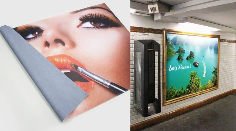 affiche métro publicité dans les transports en commun