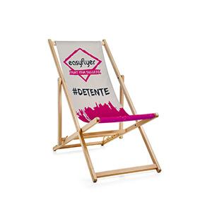 chaise longue mobilier personnalisé impression polyester