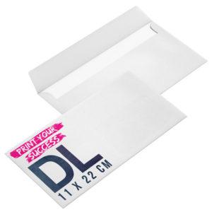 enveloppe personnalisable DL 11 x 22cm sans fenêtre