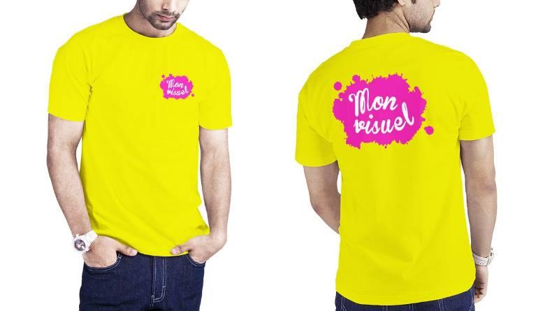 Impression tee shirt fluo personnalisé sport