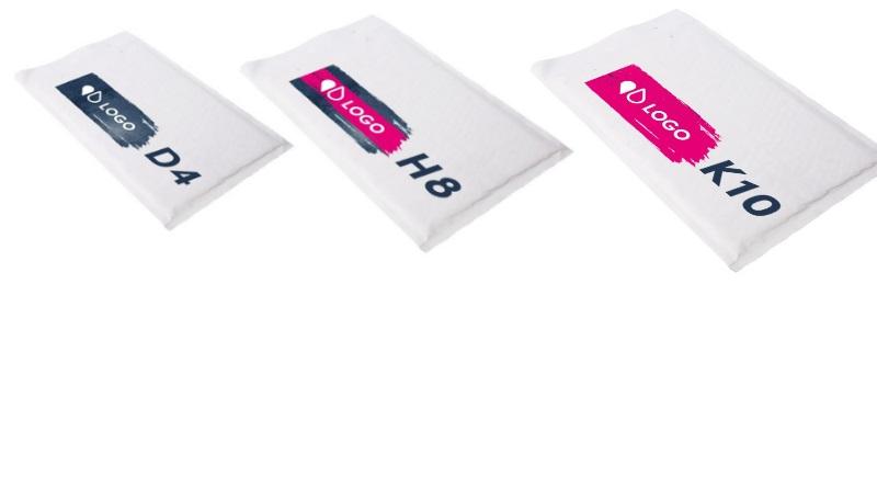 personnalisation enveloppes a bulles format D4 H8 K10