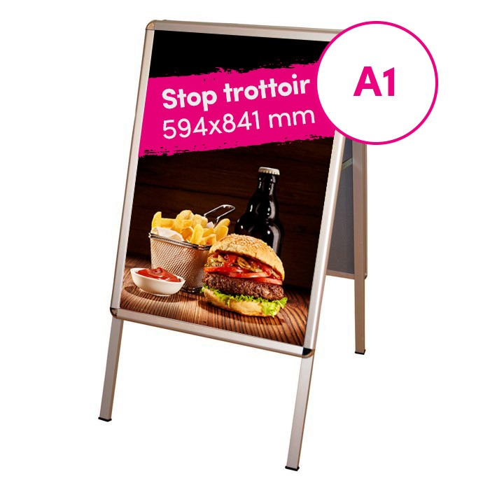 stop-trottoir publicitaire communication restaurant