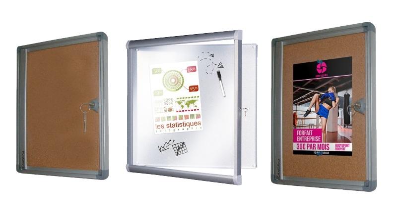 Tableau vitrine affichage fonctionnel int rieur ext rieur for Tableau exterieur