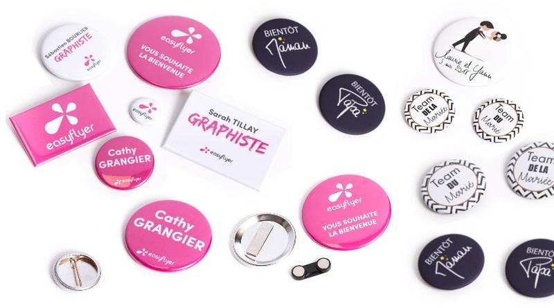 badges nominatifs épingle aimant mariage conférence