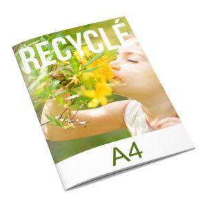 brochure publicitaire en papier recyclé format A4