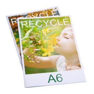 brochure publicitaire recyclée format A6