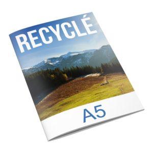 brochure papier recyclé format A5