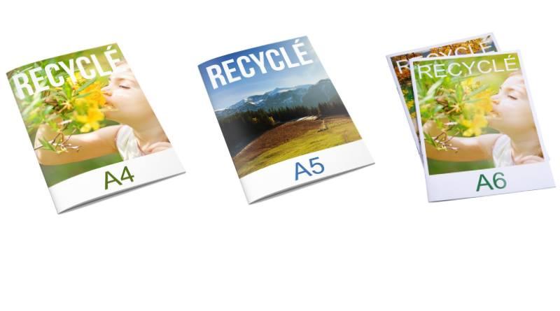 brochures publicitaires en papier recyclé