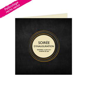 carton invitation double 21 x 21 cm pelliculage recto verso