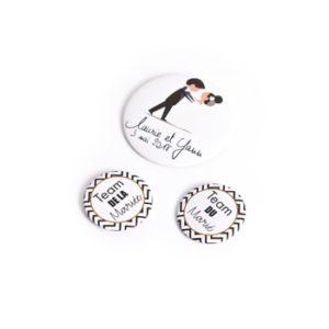 personnalisation badges épingles nominatifs