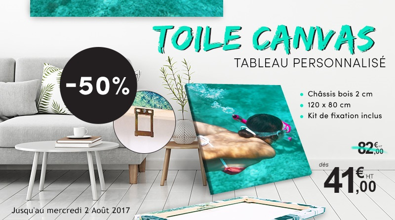 promo tableau photo toile canvas