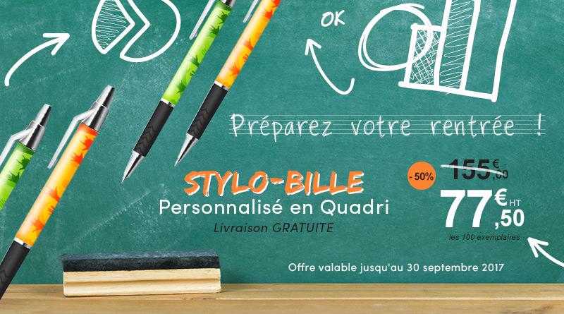 promotion -50% stylo bille publicitaire