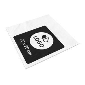 serviette de table personnalisée monochrome