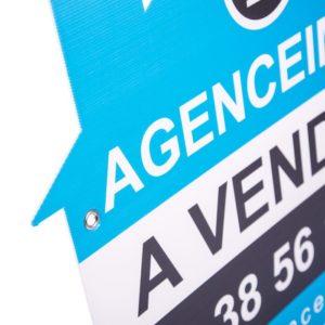 akylux découpe forme maison pas cher pancarte à louer agence immobilière