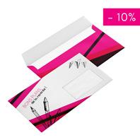 promo enveloppe personnalisée avec fenêtre