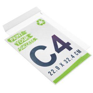 enveloppe recyclée personnalisée sans fenêtre C4