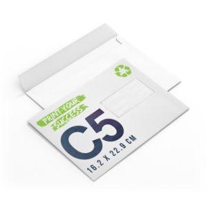 enveloppes papier recyclé avec fenêtre C5 à personnaliser