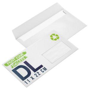 enveloppes recyclées avec fenêtre format DL personnalisées