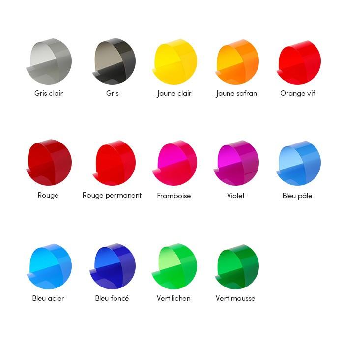 palette couleurs pour film transparent couleur à destination de surfaces vitrées