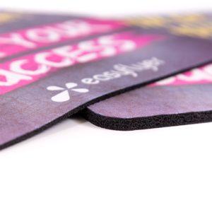 tapis de souris personnalisé : mousse antidérapante de 3mm ou 6mm