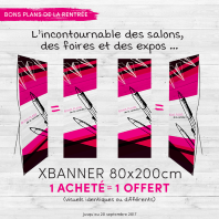 1 x-banner acheté 1 offert
