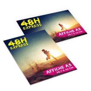 affiche A3 délai rapide 48h imprimée verticale horizontale
