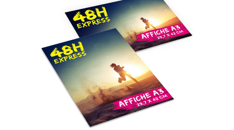 affiches A3 imprimées 48h chrono express