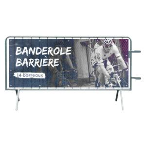 barrière extérieur banderole personnalisée 14 barreaux