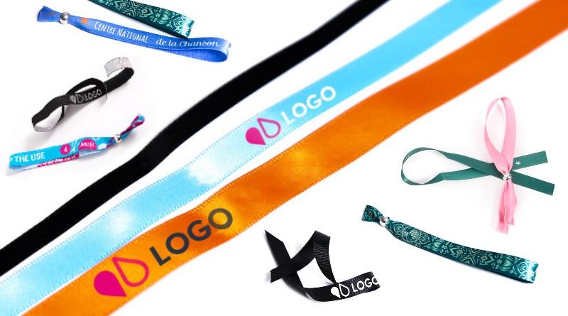 bracelets tissus publicitaires goodies événementiel