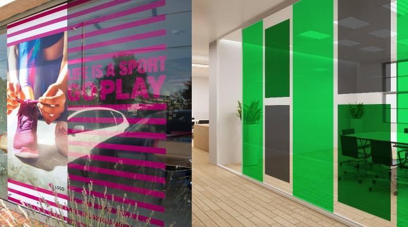 décoration d'entreprise : habillez vos vitrines et murs