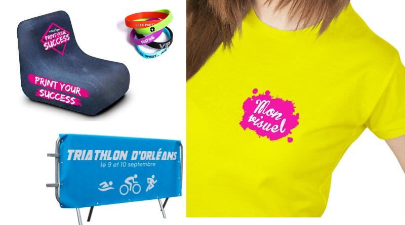événement sportif bracelet caoutchouc imprimé barrière sécurité bâche imprimé t-shirt logoté mobilier gonflable publicitaire