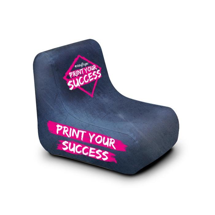 fauteuil gonflable imprimé événement sportif