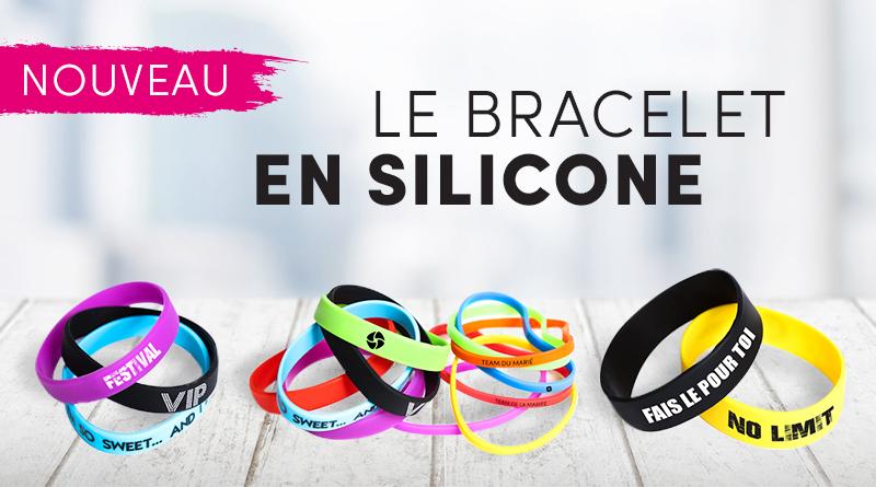 nouveau : le bracelet silicone personnalisable pour tout événement