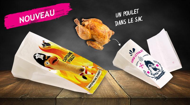 Nouveau : sac poulet rôti personnalisé