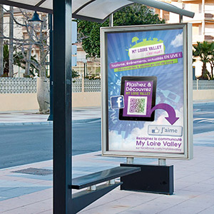 campagne affichage grand format affiche abris bus 150g rétro éclairée