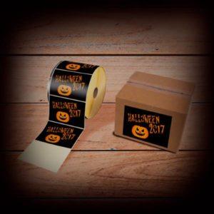 étiquette en rouleau personnalisée pour Halloween
