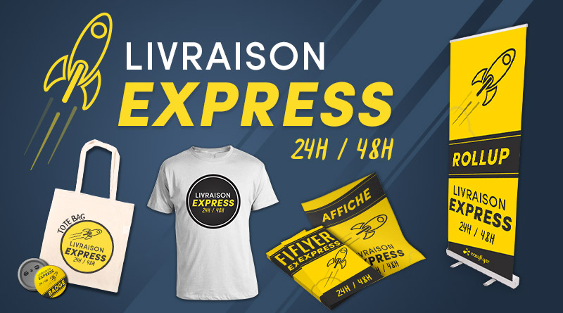 livraison express easyflyer roll up badge t shirt offset