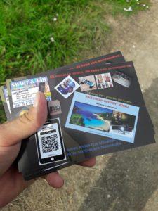 verso carte de visite avec QR Code