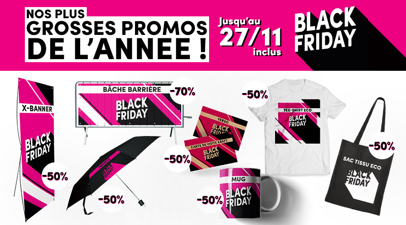 Black Friday : Promos exceptionnelles supports PLV et Goodies